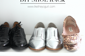 DIY shoe rack!