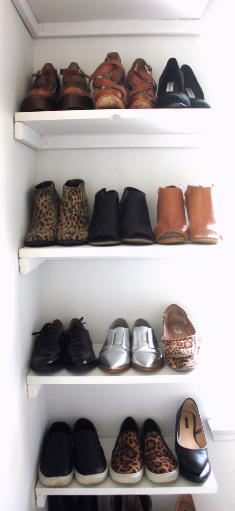 DIY closet IKEA PAX system storage organize shoe rack made from scratch open space clean how-to before and after like the yogurt master bedroom closet redo renovation white at home shelves drawers dannon k collard