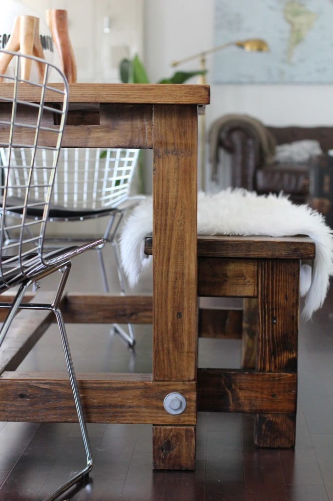 industrial loft kitchen living room west elm restoration hardware pottery barn inspired home interior design DIY budget white sheep skin rug faux black and white cabinets brass hardware cabinet pulls cups concrete countertops fake downtown charleston fashion blogger dannon k collard nate berkus tribal vase antler candle holders farmhouse table and bench world market honey wood stain revile espresso coffee maker bed bath beyond jumbo mugs copper canisters range hood world map ikea chesterfield couch