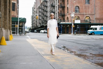 H&M + Bloglovin' Awards 2015 NYFW Studio AW15 Collection Ribbed Knit Pants and Slit Front Tunic // Charleston Blogger Dannon, Like The Yogurt
