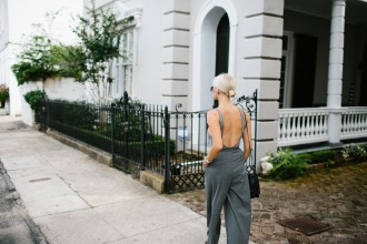 H&M Grey Wide Leg Pants and Ribbed Bodysuit // Charleston Fashion Blogger Dannon Like The Yogurt