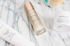 BareMinerals Skincare Review Skinlongevity serum pure plush cleanser butter drench moisturizer // Charleston Fashion Blogger Dannon Like The Yogurt