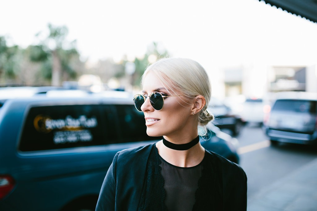 CFW Day 1 Charleston Fashion Week 2016 Street style Too Damn Expensive jacket + Harem pants H&M Black lace bodysuit Velvet Choker // Charleston Fashion Blogger Dannon Like The Yogurt