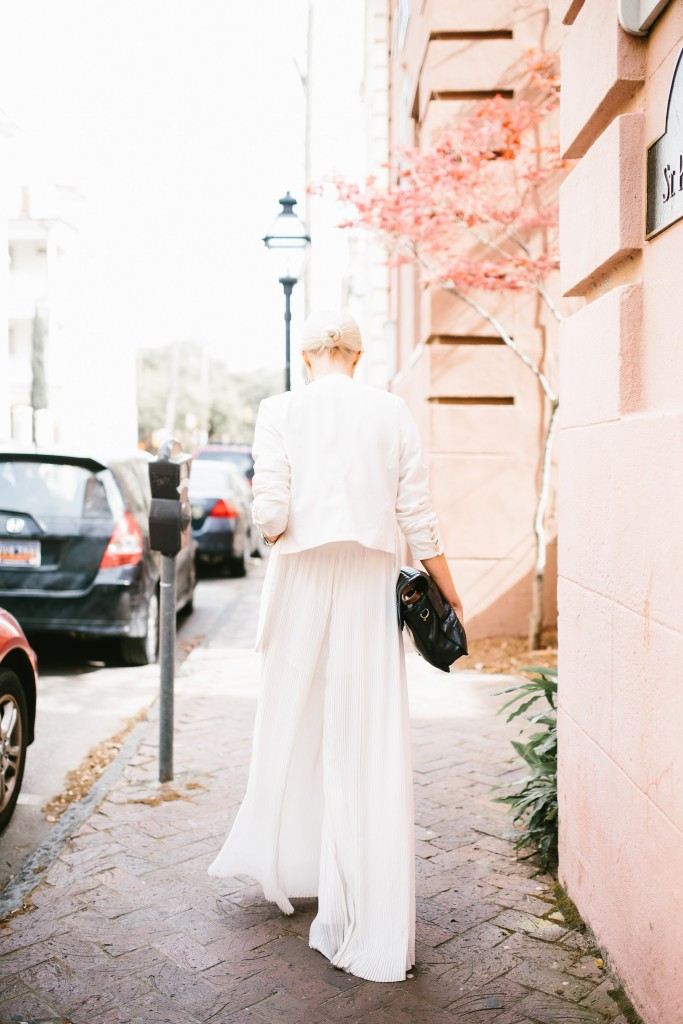 Tres Carmen ENDLESS ROSE CHIFFON PLEATED JUMPSUIT // Charleston Fashion Blogger Dannon Like The Yogurt