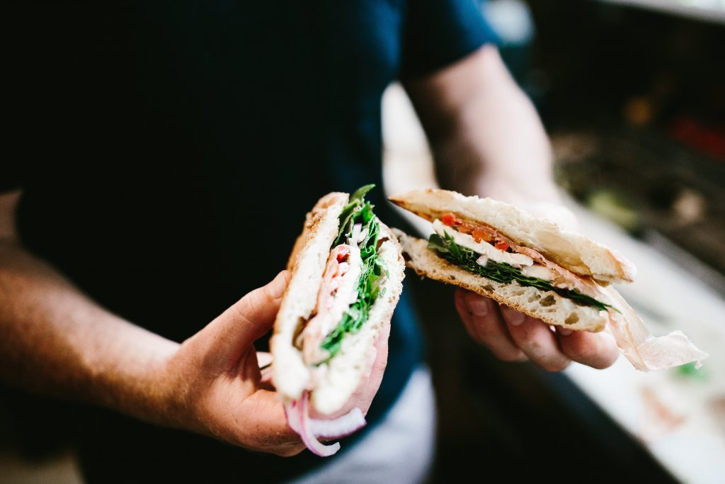 Circe's Grotto Charleston South Carolina sandwich shop panini // Charleston Fashion Blogger Dannon Like The Yogurt