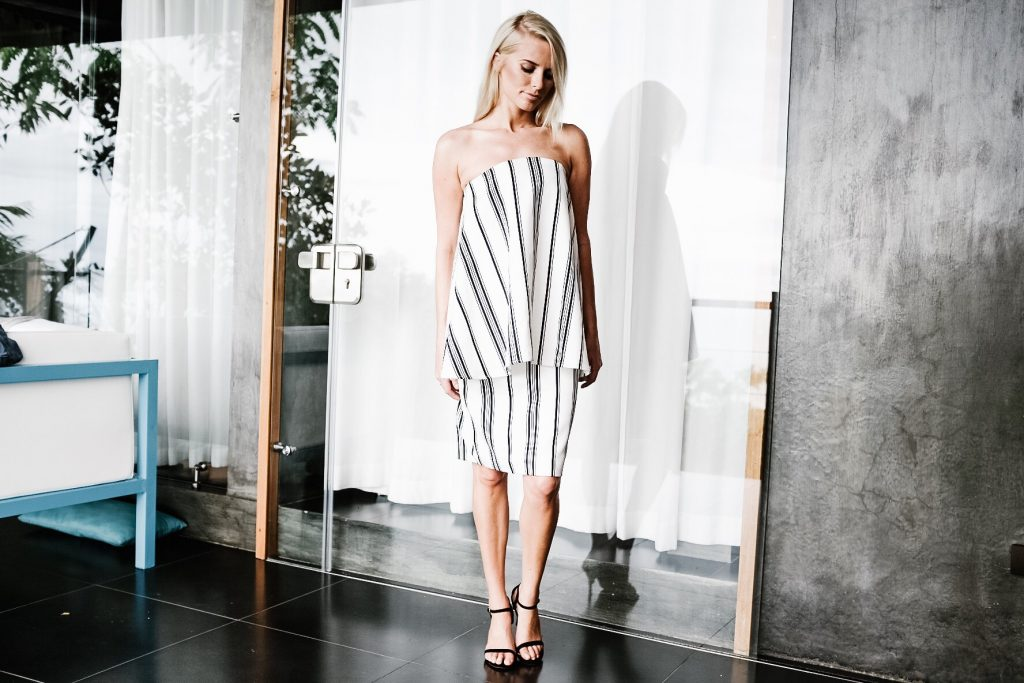Costa Rica Featuring Kura Villas luxury modern boutique hotel infinity pool terrace H&M uvita quepos travel Charleston Fashion Blogger Dannon K. Collard Like The Yogurt cameo collective strapless stripe dress white and black