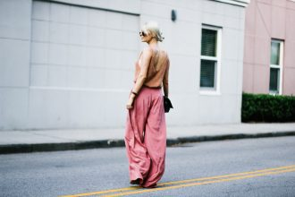 Summer Apricots Bella Luxx Tape Yarn Knit Tank Top Elizabeth and James Zoe Pants // Charleston Fashion Blogger Dannon Like The Yogurt