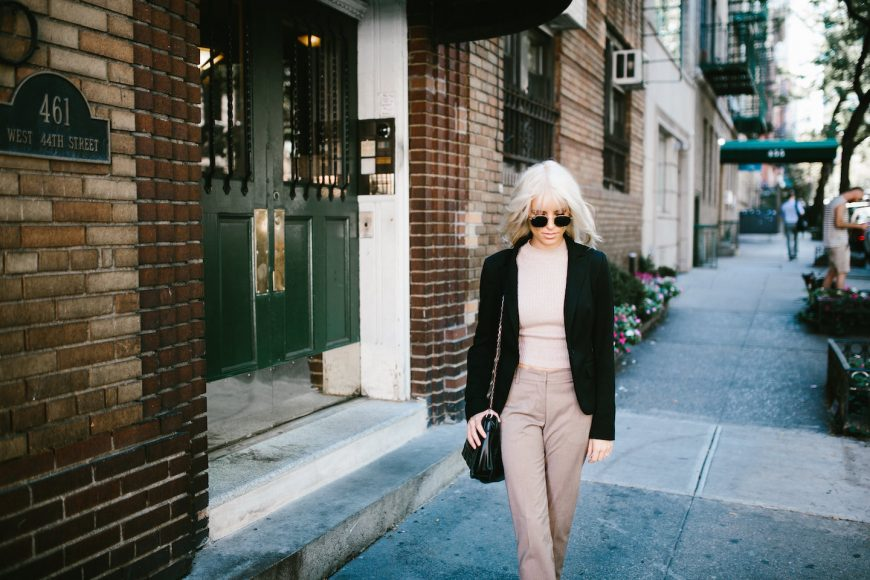 NYC Strolls ribbed sleeveless turtleneck plaid trousers loafers 90's street style fall autumn trends 2016 // Charleston Fashion Blogger Dannon Like The Yogurt