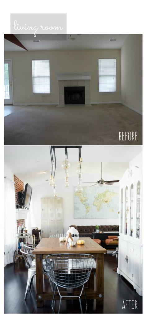 Our First Home Like The Yogurt before and after home renovation loft industrial style // Charleston Fashion Blogger Dannon Like The Yogurt