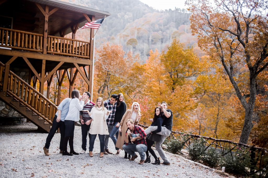 Mountain Weekend Fall in Maggie Valley NC lake junaluska Asheville North Carolina Brewery bonfire nights s'mores chili log cabin autumn retreat friends hot tub Charleston Fashion Blogger Dannon Like The Yogurt
