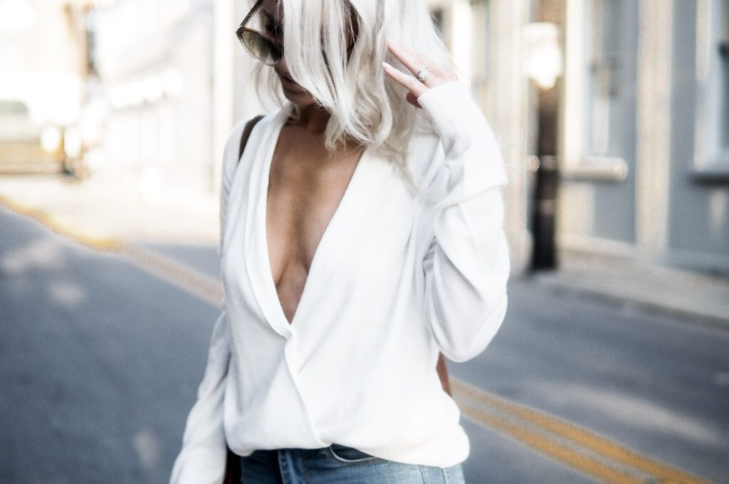 Take The Plunge plunge neck spring street style // charleston fashion blogger dannon k collard like the yogurt