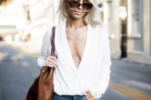 plunge neck sping street style // charleston fashion blogger dannon k collard like the yogurt