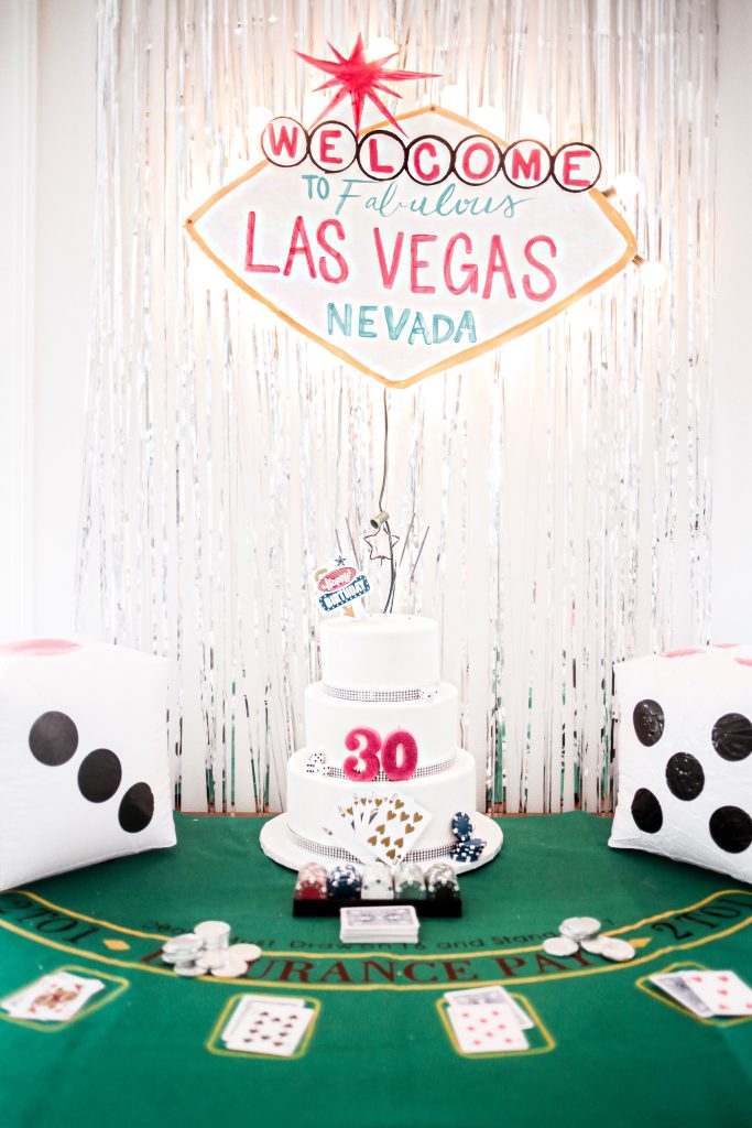 30th birthday girl vegas themed dannon k collard charleston party4