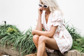 Spring Style Privacy Please Orchid Mini Pearl Stripe ankle strap sandals bamboo purse cult gaia white round sunglasses // Charleston Fashion Blogger Dannon K. Collard Like The Yogurt