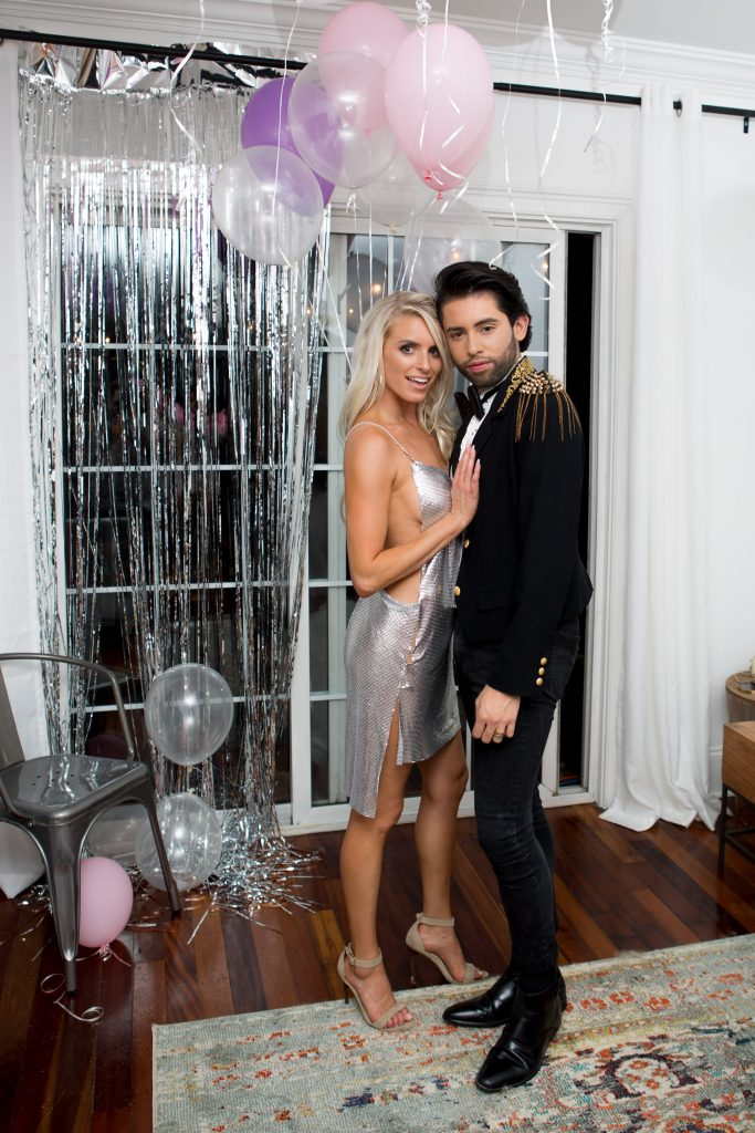 30th birthday girl silver chainmail rhinestone dress vegas themed party // Charleston blogger dannon k collard like the yogurt