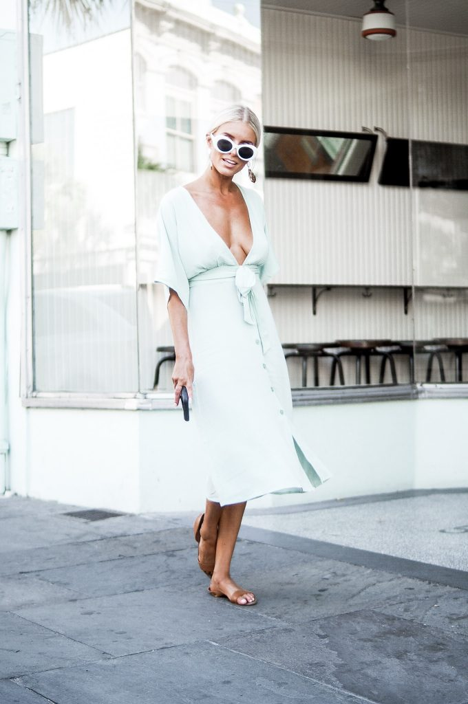 mint dress summer style forever 21 button front midi dress // charleston fashion blogger dannon k collard like the yogurt