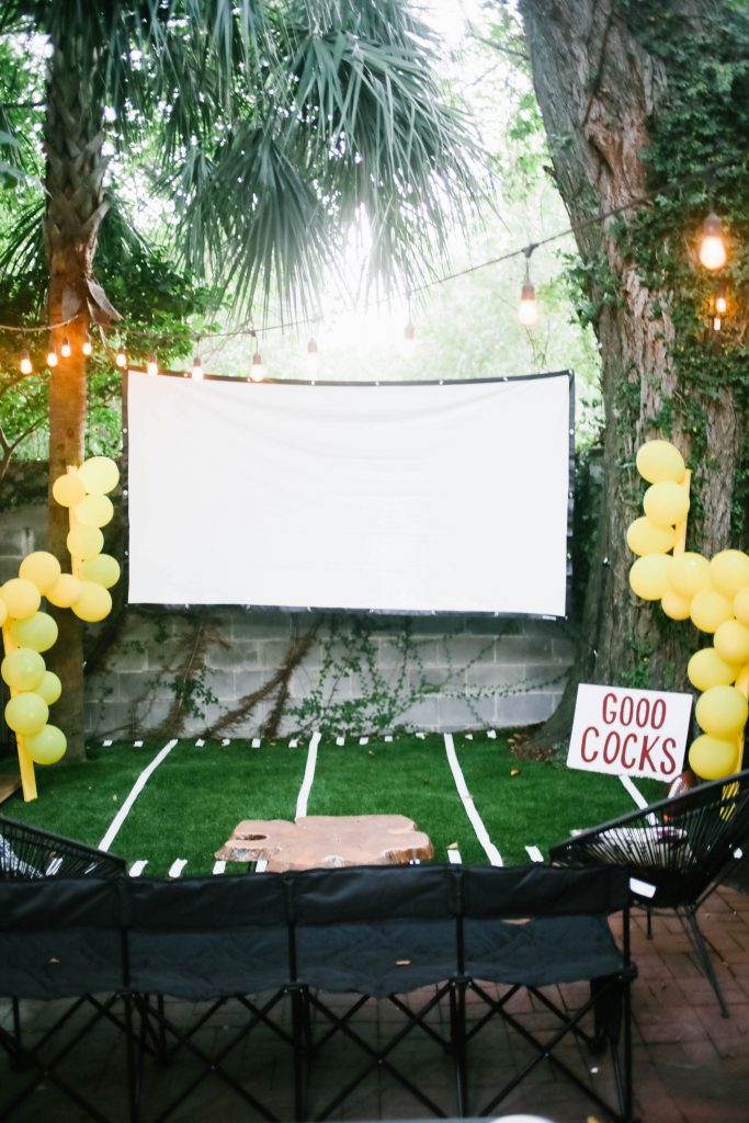 carolina gamecocks tailgate themed party // charleston fashion lifestyle blogger dannon k collard