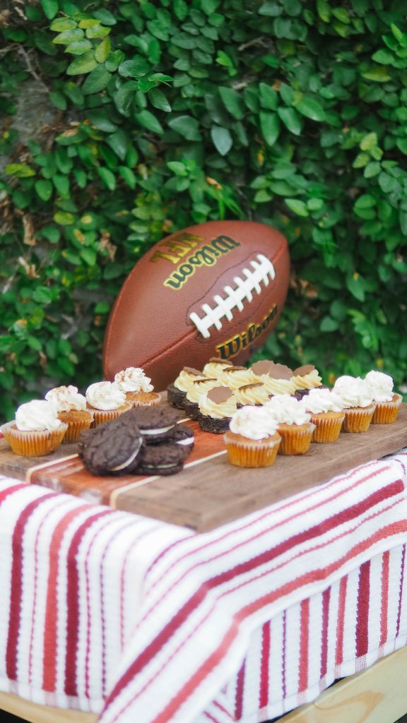 carolina gamecocks tailgate themed party // charleston fashion lifestyle blogger dannon k collard hammy catering beer tower high life miller birthday cake